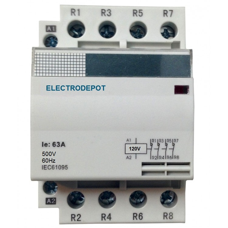 low cost contactor 30a 40a 50a 4 pole 3 pole